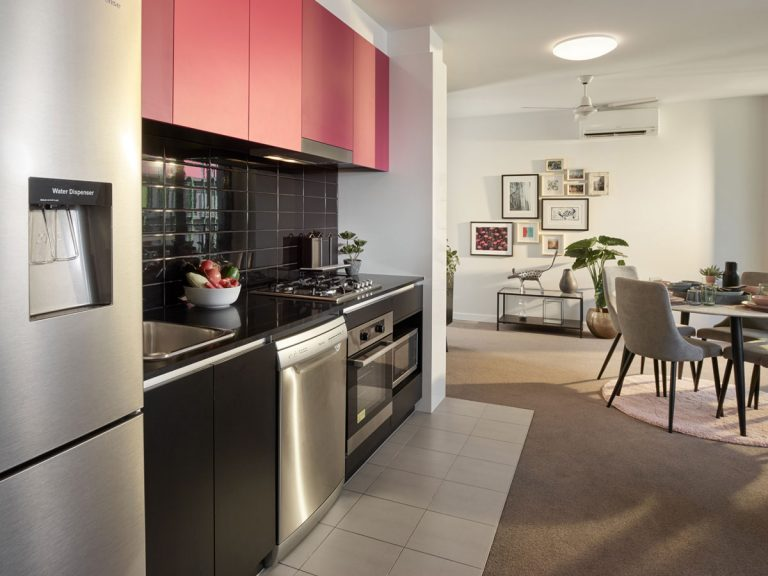 2 Bedroom Pet Friendly Apartments Display Kitchen