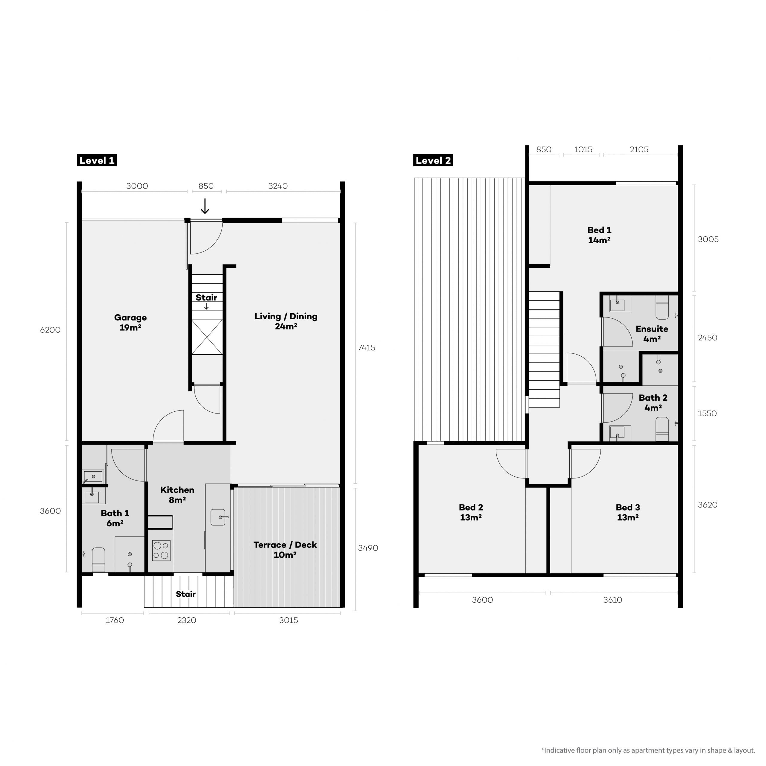 3 bedroom apartments for rentTownhouse Floor Plan
