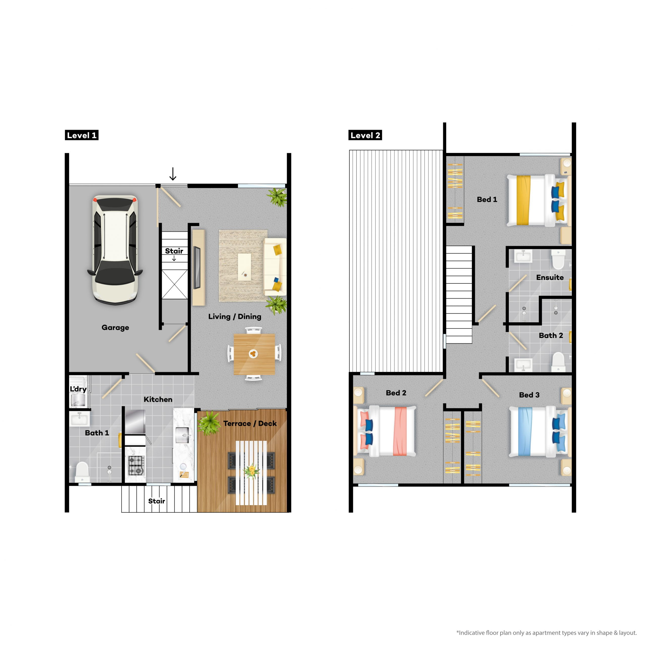 3 bedroom apartments for rent Floor plan