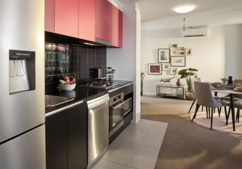 2 Bedroom Pet Friendly Apartments Display Kitchen